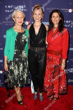 Helen Mirren, Tina Benko and Julie Taymor (Director)