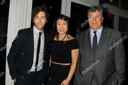 Thomas Middleditch, Joyce Chang and Tom Bernard