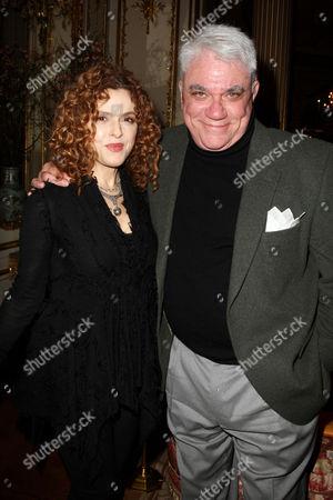 Bernadette Peters and Rex Reed