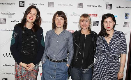 Stock Photo of Justine Triet, Axelle Ropert, Katell Quillevere and Rebecca Zlotows