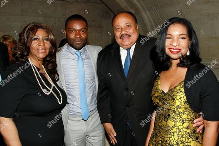 Aretha Franklin, David Oyelowo, Martin Luther King Jr lll, Arndrea Waters King