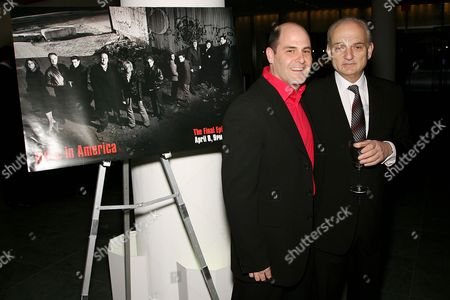 Writer and Executive Producer Matt Weiner with Executive Producer and creator David Chase