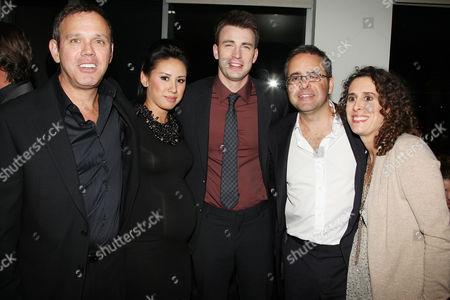 Rod de Llano and wife, Chris Evans, Paul Danziger and wife Susan