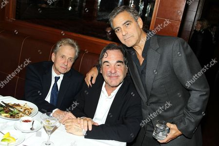 Michael Douglas, Oliver Stone and George Clooney