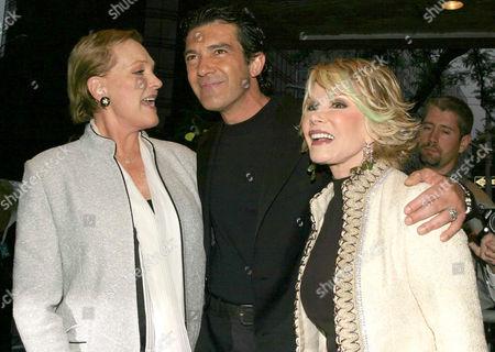 Julie Andrews, Antonio Banderas and Joan Rivers