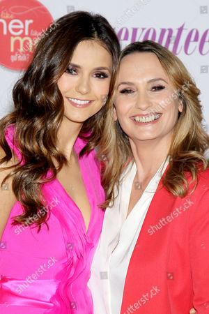 Stock Photo of Nina Dobrev and mum Michaela Constantine