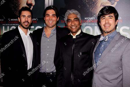 Gabriel Hammond, Kevin Turen, Ashok Amritraj and Daniel Hammond