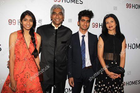 Ashok Amritraj with family