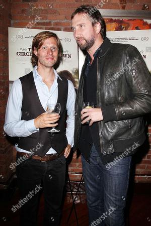 Stock Photo of Felix Van Groeningen and Matt Spangler