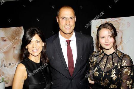 Stock Image of Perrey Reeves, Nigel Barker, Katie Chang