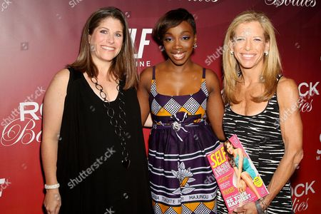 Kim Kelleher (VP/Publisher of SELF), Estelle, Lucy Danziger (Editor-in-Chief of SELF)