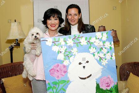 British celebrity pet artist Cindy Lass and Chita Rivera