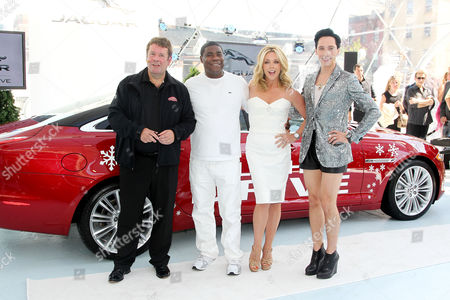 Stock Photo of Andy Goss (Jaguar), Tracy Morgan, Johnny Weir and Jane Krakowski