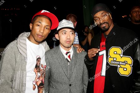 Pharrell Williams (co-owner), Nigo (co-owner) and Snoop Dogg