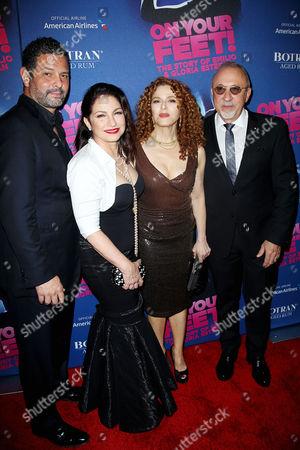 Alexander Dinelaris, Gloria Estefan, Bernadette Peters and Emilio Es