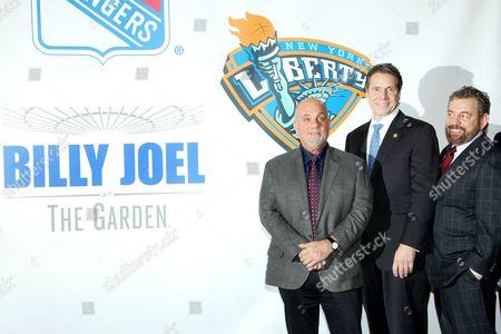 Billy Joel, Governor Andrew Cuomo and Jim Dolan