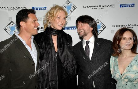 Andre Balazs, Uma Thurman, Ken Burns and Julie Burns