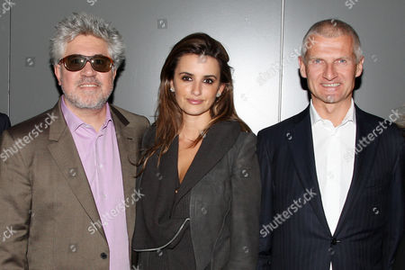 Pedro Almodovar (Director), Penelope Cruz and Andrea Illy (Chairman and CEO of illycaffe)