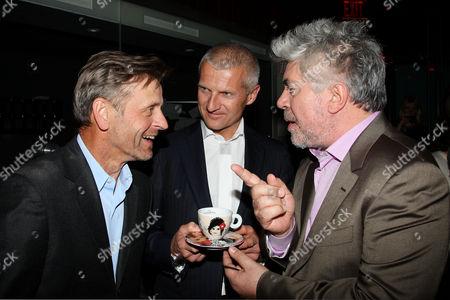 Mikhail Baryshnikov, Andrea Illy (Chairman and CEO of illycaffe) and Pedro Almodovar (Director)