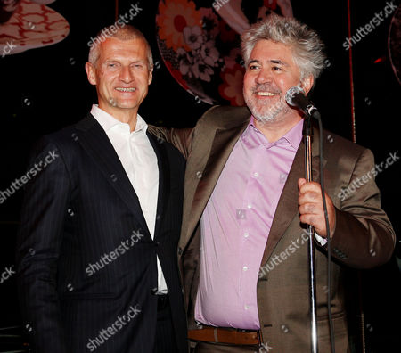 Andrea Illy (Chairman and CEO of illycaffe) and Pedro Almodovar (Director)