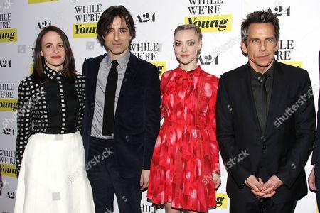 Maria Dizzia, Noah Baumbach (Director), Amanda Seyfried and Ben Stiller