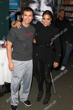 Stock Image of Tony Martinez and Janet Jackson