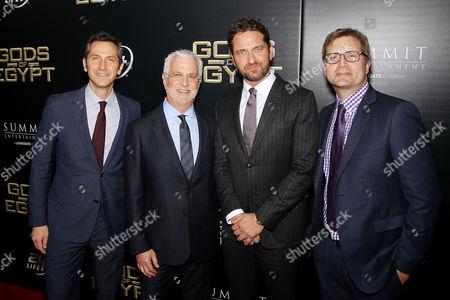 Erik Feig (Co-Chair Lionsgate), Rob Friedman (Co-Chair Lionsgate), Gerard Butler, Geoff Shaevitz (Pres. Production Lionsgate)