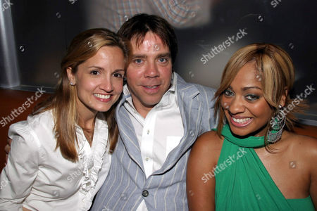Kim Hilfiger and Andy Hilfiger with MTV VJ Lala