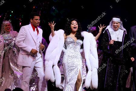 Raven-Symone, Chester Gregory (L) and Carolee Carmello (R)