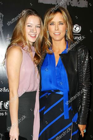 Madelaine West Duchovny and Tea Leoni