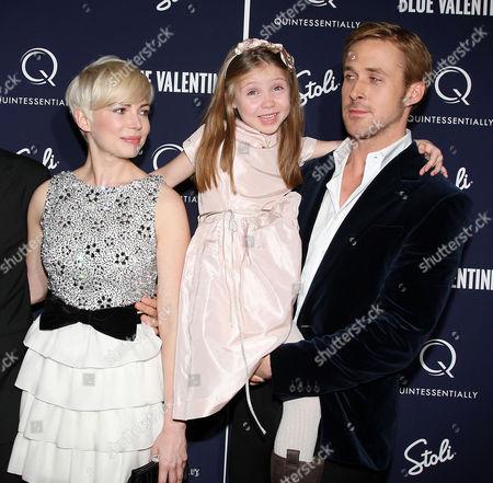 Michelle Williams, Faith Wladyka and Ryan Gosling