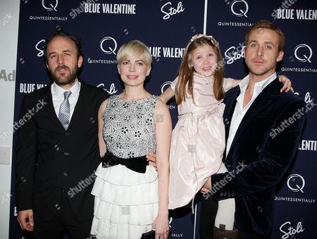 Derek Cianfrance (Director), Michelle Williams, Faith Wladyka and Ryan Gosling