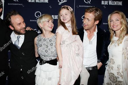 Derek Cianfrance (Director), Michelle Williams, Faith Wladyka, Ryan Gosling