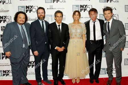 Adrian Martinez, Jonathan C. Daly, Ben Stiller, Kristen Wiig, Sean Penn and Adam Scott