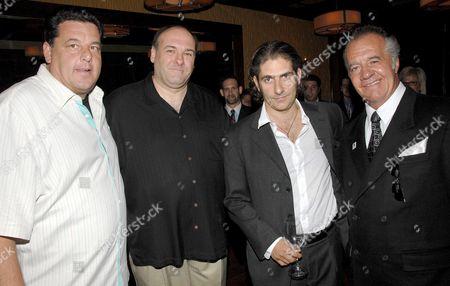 Steven Schirripa, James Gandolfini, Michael Imperioli and Tony Sirico
