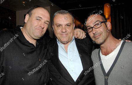 James Gandolfini, Vince Curatola and John Ventimiglia