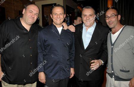 James Gandolfini, Fabio Trabocchi (Fiamma Chef), Vince Curatola and John Ventimiglia
