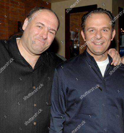James Gandolfini and Fabio Trabocchi (Fiamma Chef)