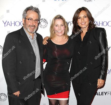 Warren Leight, Julie Martin and Mariska Hargitay