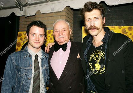 Elijah Wood, Boris Leskin and Eugene Hutz