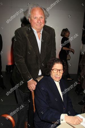 Graydon Carter and Fran Lebowitz