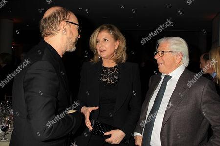 Paul Haggis, Arianna Huffington and Carl Bernstein