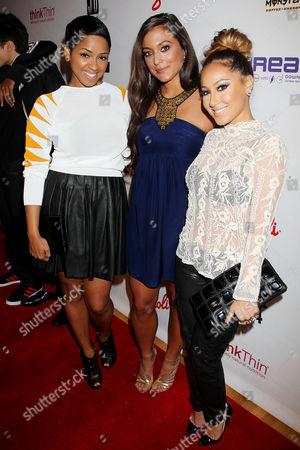 RaVaughn Brown, Sammi Sweetheart Giancola and Adrienne Bailon