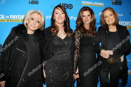 Sheila Nevins, Katrina Gilbert, Maria Shriver, Gloria Steinem