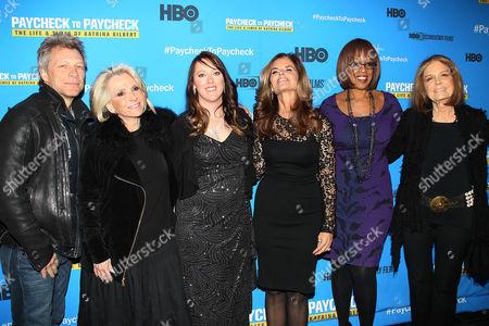 Jon Bon Jovi, Sheila Nevins, Katrina Gilbert, Maria Shriver, Gale King, Gloria Steinem