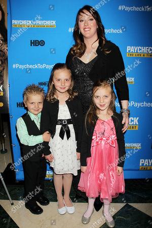 Katrina Gilbert with her Children
