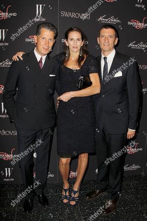 Stefano Tonchi, Lisa Immordino Vreeland (Filmmaker) and Alexande