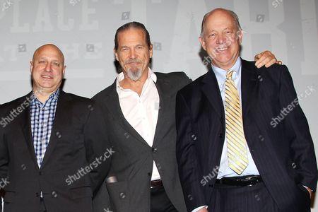 Stock Picture of Tom Colicchio, Jeff Bridges and Bill Shore