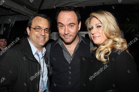 Jack Giarraputo, Dave Matthews and Heather Parry
