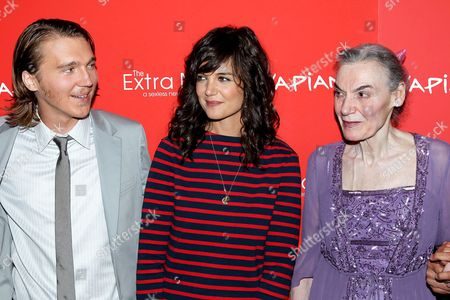 Paul Dano, Katie Holmes and Marian Seldes